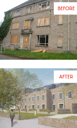 Private Rented Units before and after renovation