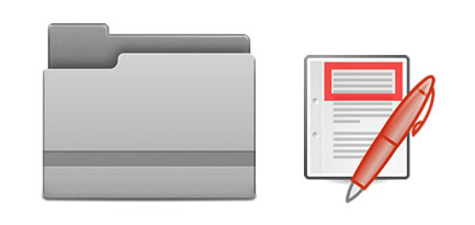 Key documents clipart