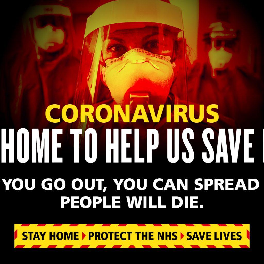 Coronavirus stay home to help keep us safe