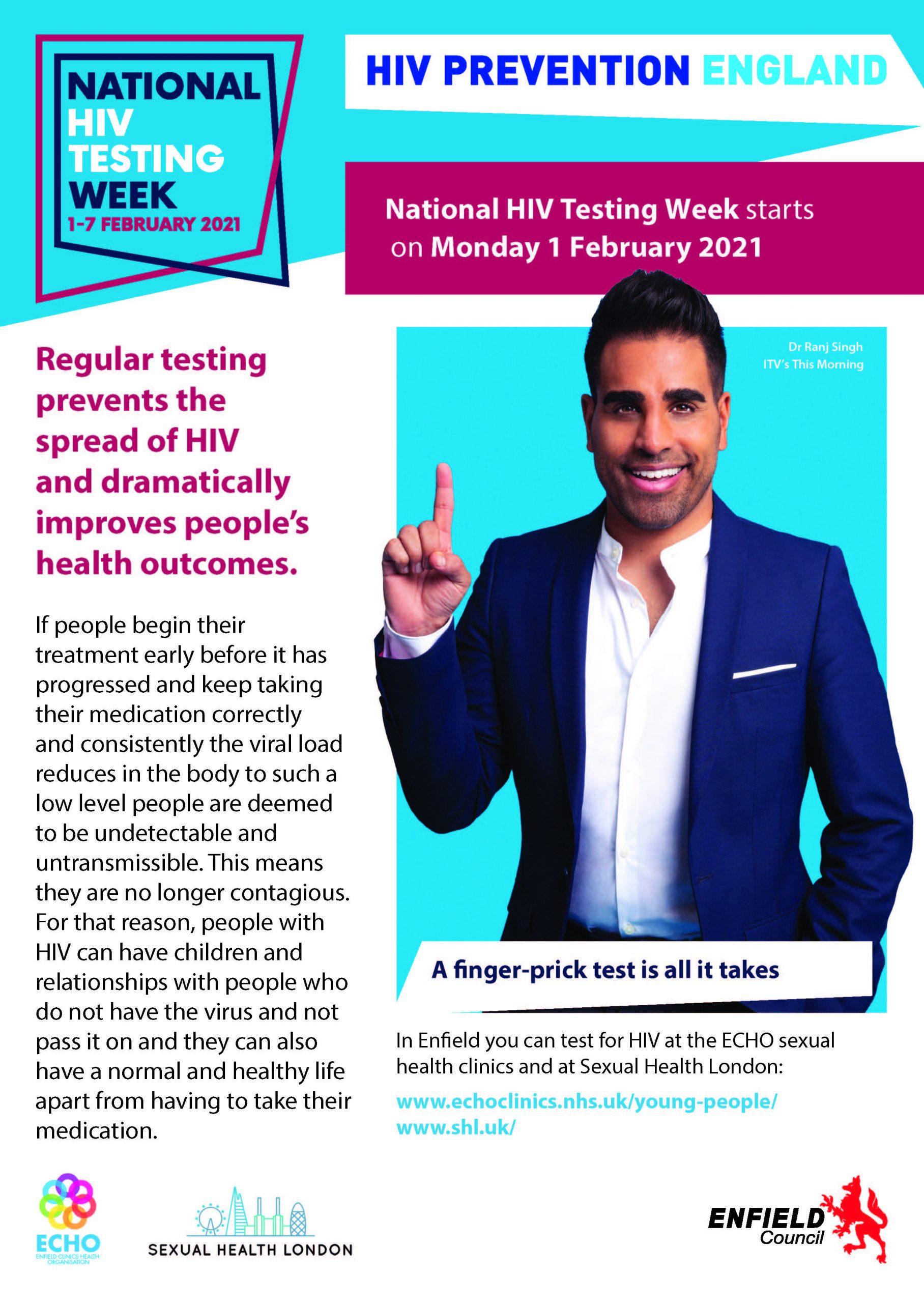 National HIV Testing Week starts 1st Feb