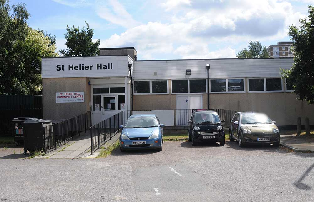St Helier Hall outside